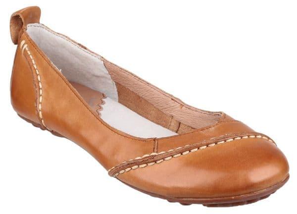 Hush Puppies Janessa Slip On Ladies Shoes Tan